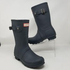 Hunter Original Short Waterproof Boots Dark Slate